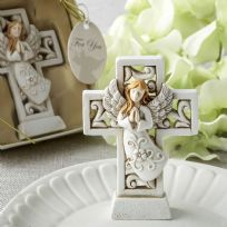 Magnificent Cross Statue With Praying Angel